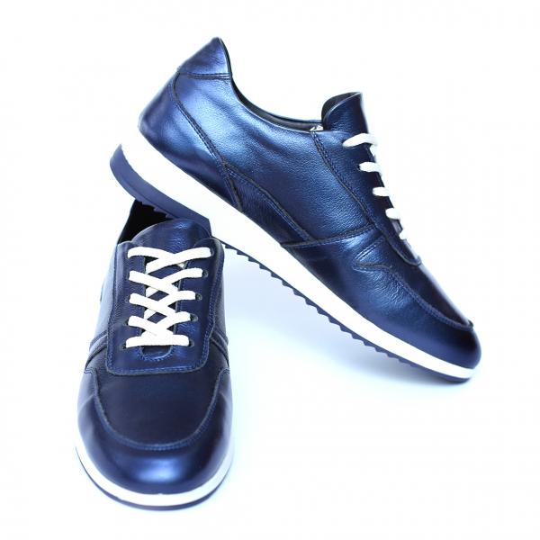 Pantofi dama din piele naturala, Naty, Peter, Albastru, 35 EU [2]