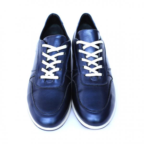 Pantofi dama din piele naturala, Naty, Peter, Albastru, 35 EU [4]
