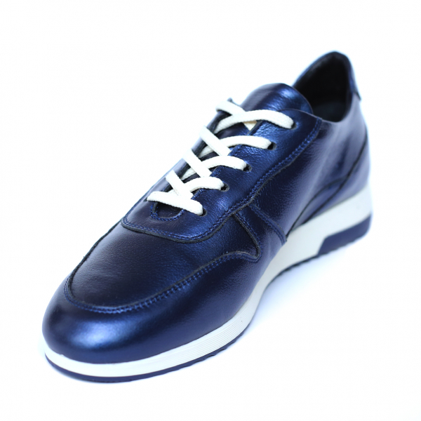 Pantofi dama din piele naturala, Naty, Peter, Albastru, 35 EU [3]