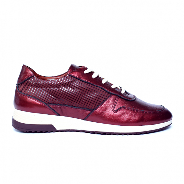 Pantofi dama din piele naturala, Naty, Peter, Grena, 38 EU [0]