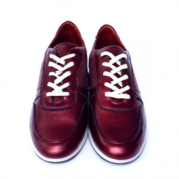 Pantofi dama din piele naturala, Naty, Peter, Grena, 38 EU [1]