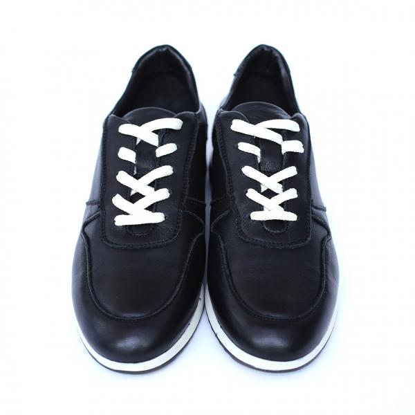 Pantofi dama din piele naturala, Naty, Peter, Negru, 38 EU 1