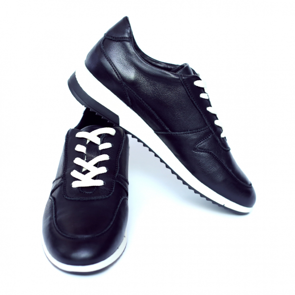Pantofi dama din piele naturala, Naty, Peter, Negru, 38 EU 2