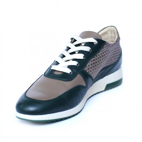 Pantofi dama din piele naturala, Naty, Peter, Verde, 35 EU [2]