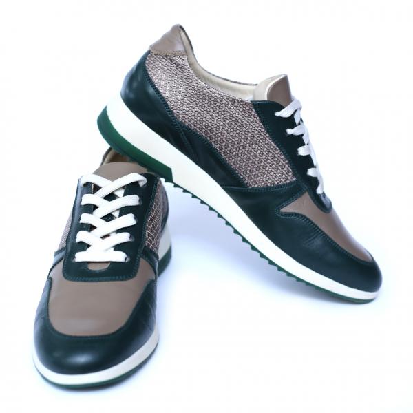 Pantofi dama din piele naturala, Naty, Peter, Verde, 35 EU [1]