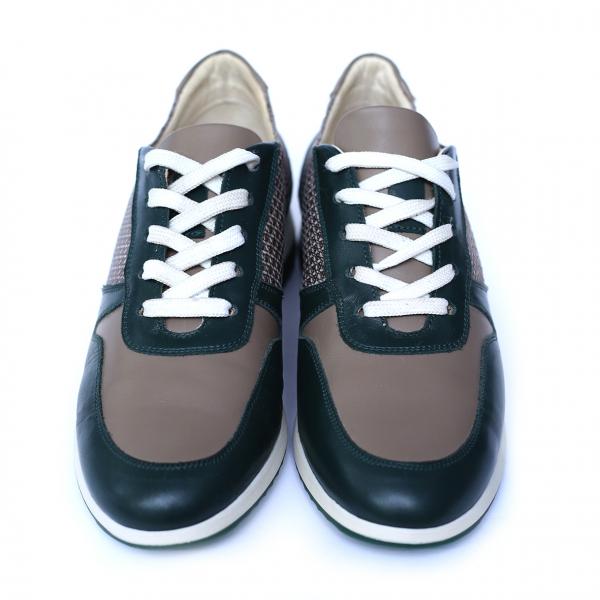 Pantofi dama din piele naturala, Naty, Peter, Verde, 35 EU [3]