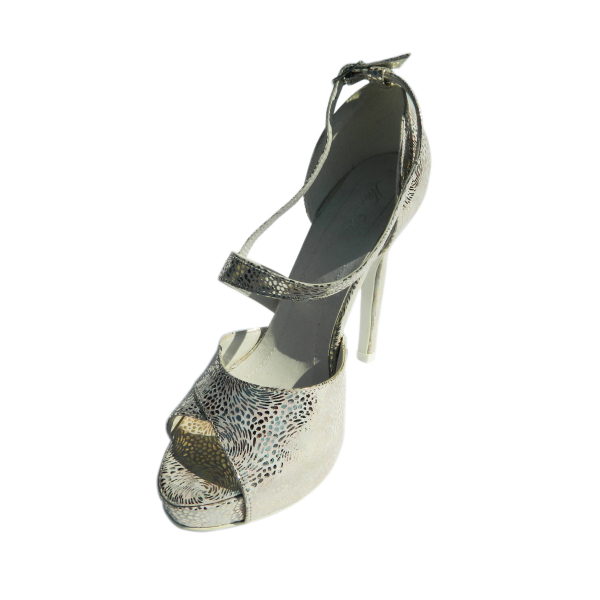 Pantofi dama din piele naturala, Beyonce, Nist, Argintiu, 35 EU [0]