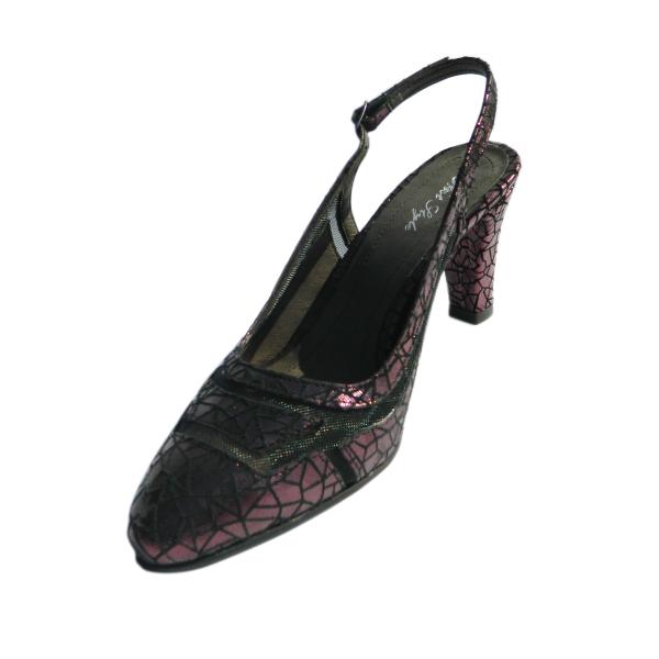 Pantofi dama din piele naturala, Jardyn, Nist, Bordeaux, 35 EU 0