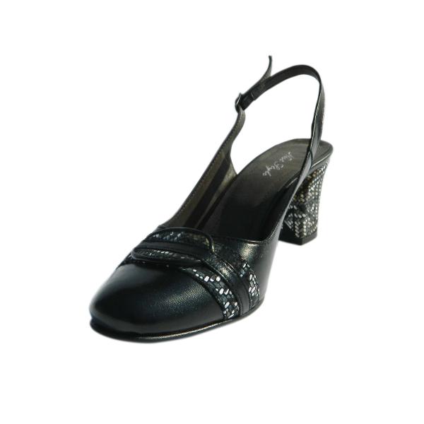 Pantofi dama din piele naturala, Dana, Nist, Negru, 36 EU 0