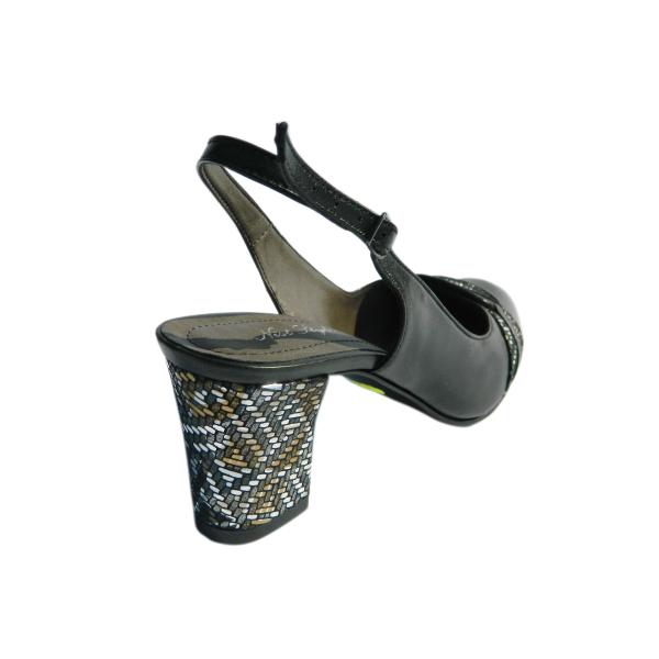 Pantofi dama din piele naturala, Dana, Nist, Negru, 36 EU 1
