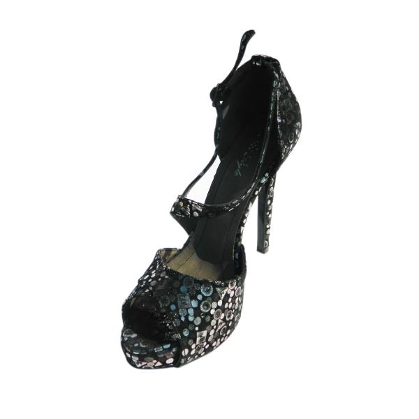 Pantofi dama din piele naturala, Riana, Nist, Negru, 36 EU 0