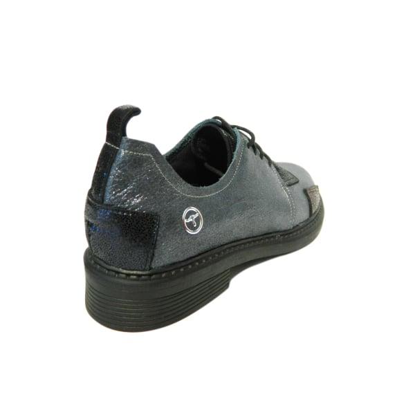 Pantofi dama din piele naturala, Oxford, Gitanos, Gri, 36 EU 1