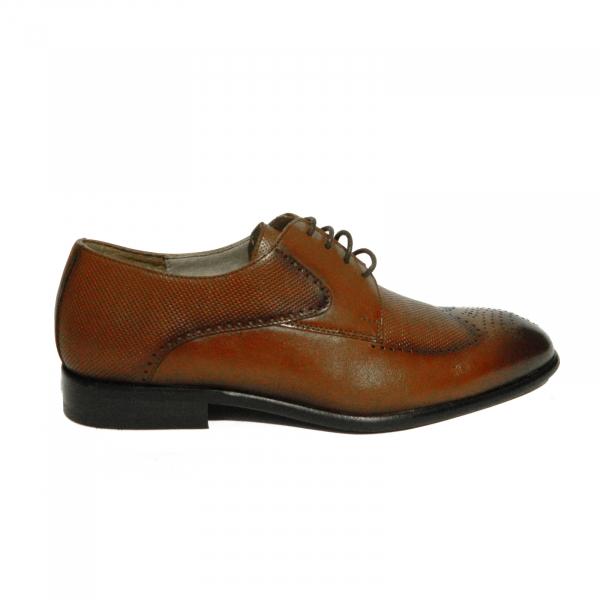 Pantofi eleganti pentru barbati din piele naturala, Nevalis, Maro, 39 EU 0