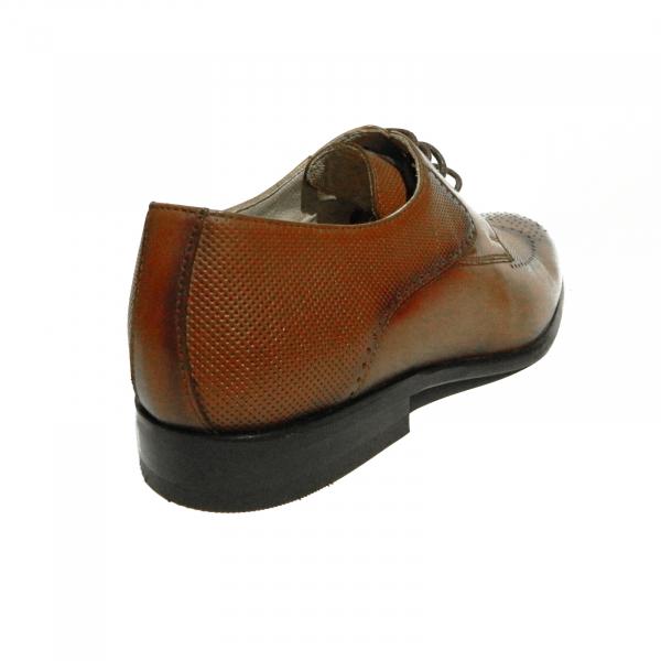 Pantofi eleganti pentru barbati din piele naturala, Nevalis, Maro, 39 EU 2