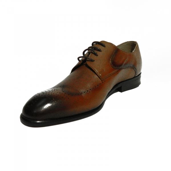 Pantofi eleganti pentru barbati din piele naturala, Nevalis, Maro, 39 EU 1