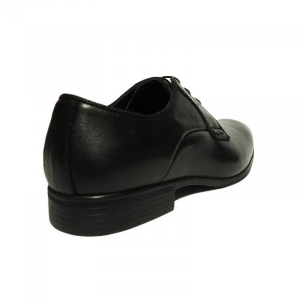 Pantofi eleganti pentru barbati Jerez, piele naturala, Dr. Jells, Negru, 40 EU 2