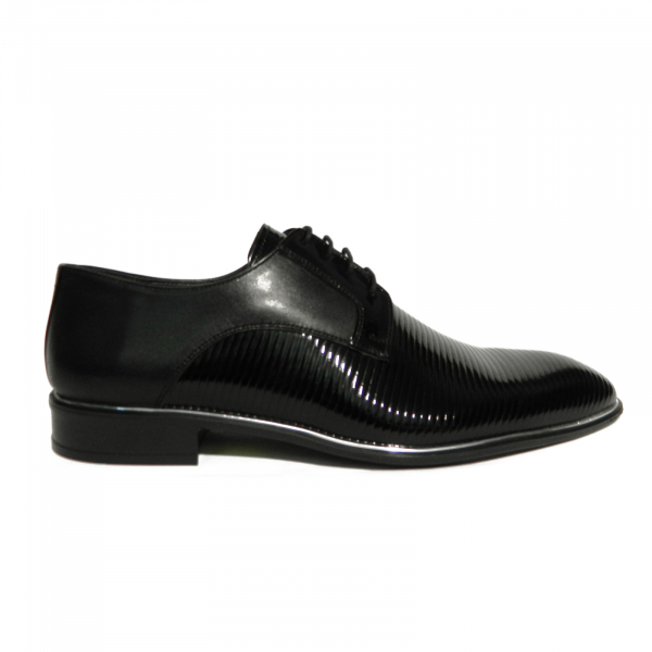 Pantofi eleganti pentru barbati Lino, piele naturala, Gitanos, Negru, 40 EU [0]