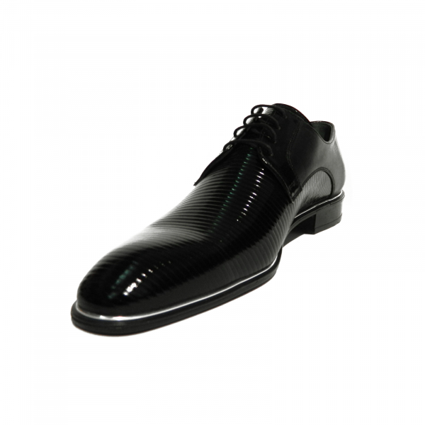 Pantofi eleganti pentru barbati Lino, piele naturala, Gitanos, Negru, 40 EU [1]