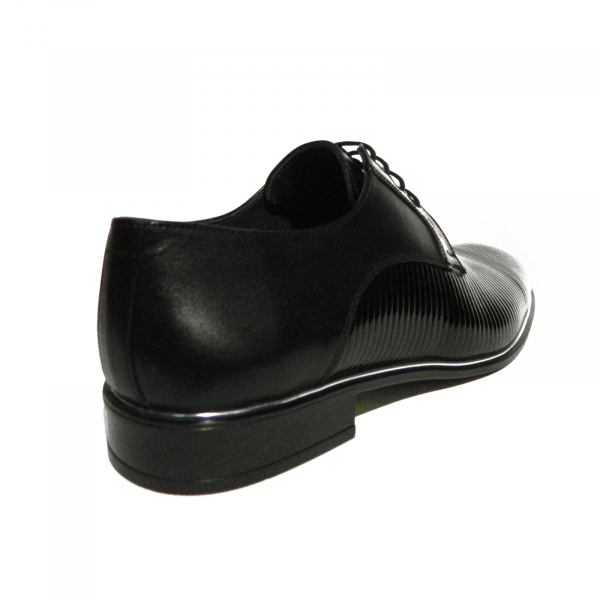 Pantofi eleganti pentru barbati Lino, piele naturala, Gitanos, Negru, 40 EU [2]