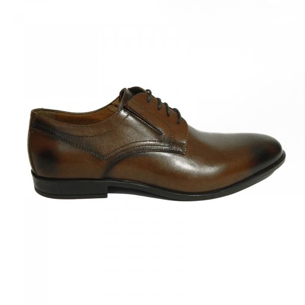 Pantofi eleganti pentru barbati Brandy, piele naturala, RIVA MANCINA, Maro, 39 EU [0]