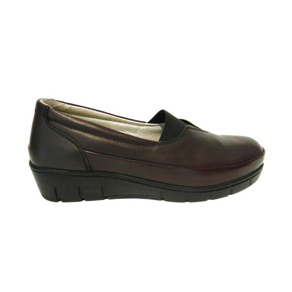 Pantofi dama cu talpa ortopedica Ipek, piele naturala, Gitanos, Bordeaux, 36 EU 2