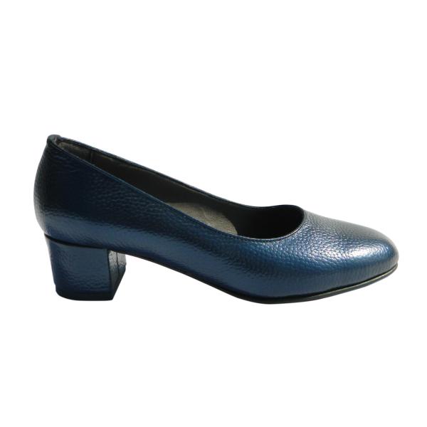 Pantofi dama din piele naturala, Caroll, Nist, Albastru, 35 EU [2]