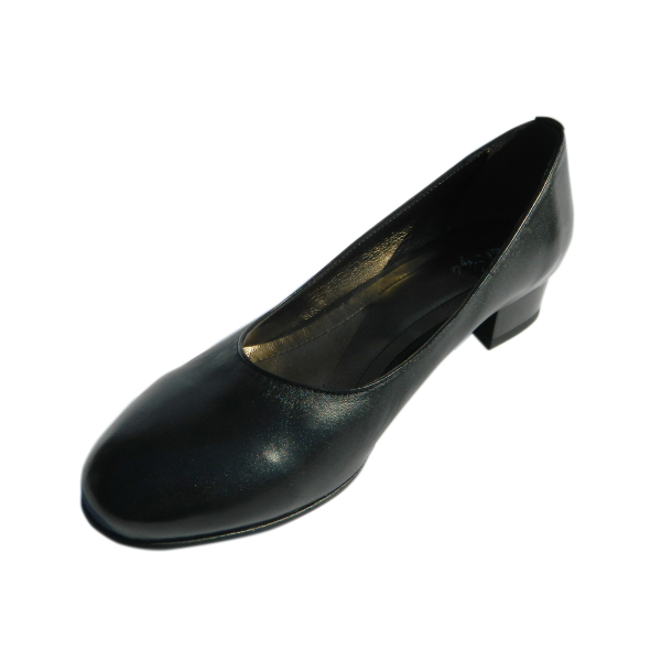 Pantofi dama din piele naturala, Caroll, Nist, Negru, 35 EU 0
