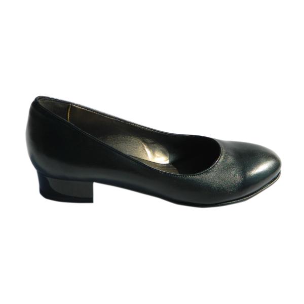 Pantofi dama din piele naturala, Caroll, Nist, Negru, 35 EU 2