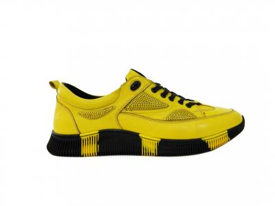 Pantofi sport pentru barbati Erny, piele naturala, Gitanos, Galben, 40 EU 0