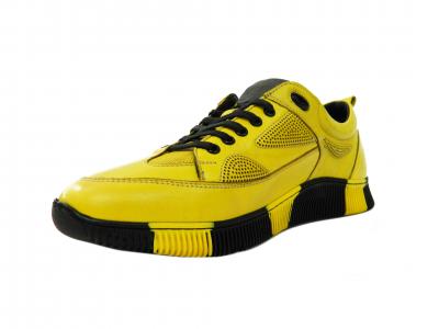 Pantofi sport pentru barbati Erny, piele naturala, Gitanos, Galben, 40 EU 2