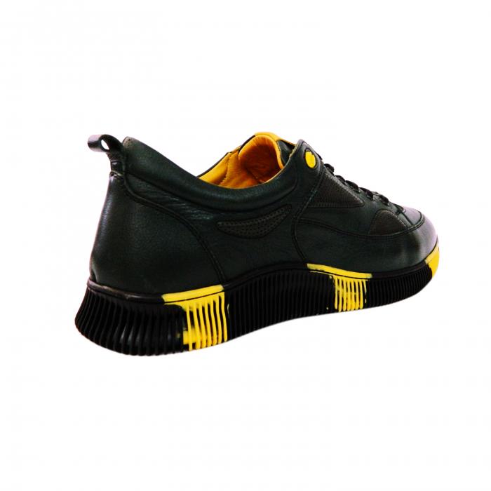 Pantofi sport pentru barbati Erny, piele naturala, Gitanos, Negru, 40 EU 2