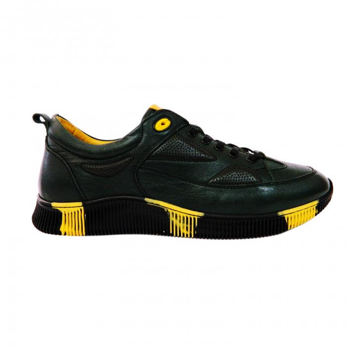 Pantofi sport pentru barbati Erny, piele naturala, Gitanos, Negru, 40 EU 0