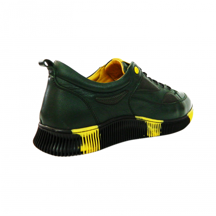 Pantofi sport pentru barbati Erny, piele naturala, Gitanos, Verde, 40 EU [2]