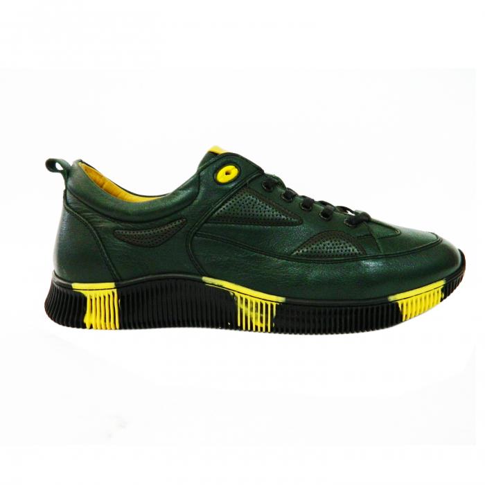 Pantofi sport pentru barbati Erny, piele naturala, Gitanos, Verde, 40 EU [0]