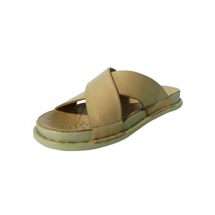 Papuci dama din piele naturala, Slipper, Anna Viotti, Bej, 40 EU [2]