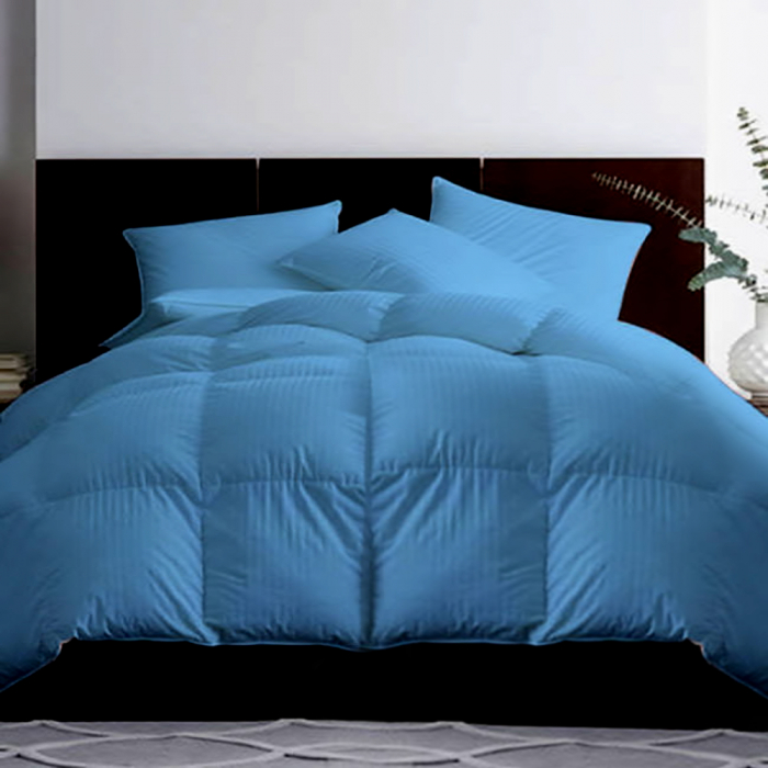 Pilota matlasata umpluta cu lana, pentru iarna, damasc Albastru, 140x210 cm 0