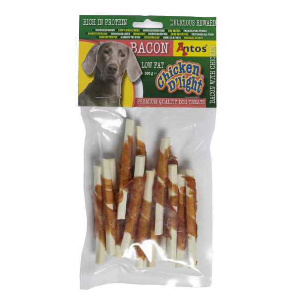 Recompense pentru caini Antos, Chicken D'light Bacon, Pui, 100 g 0