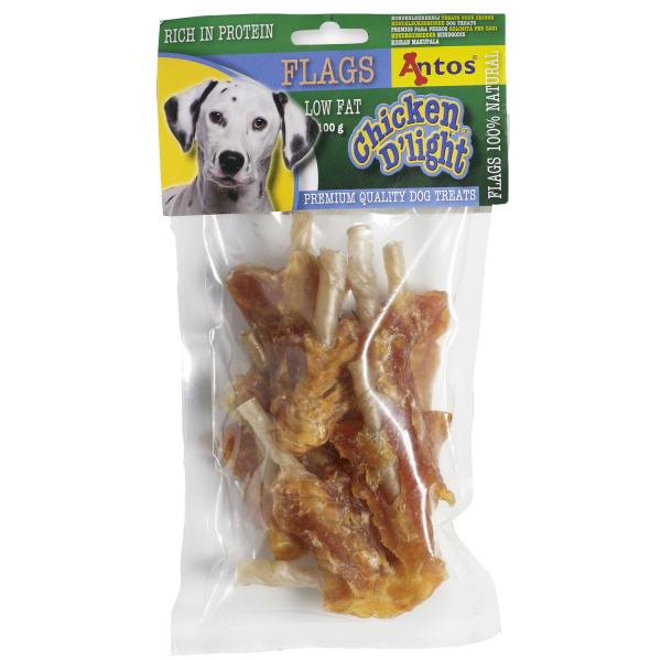 Recompense pentru caini Antos, Chicken D'light Flags, Pui, 100 g [0]