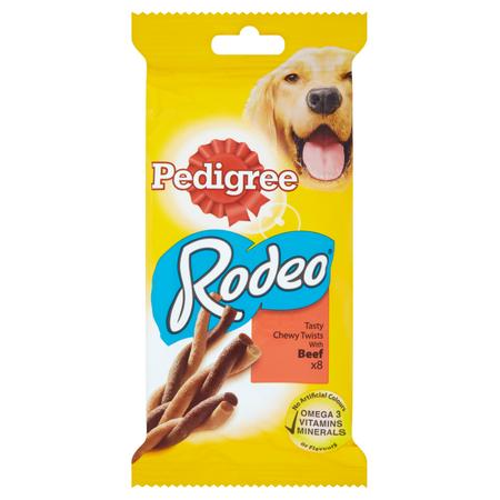 Recompense pentru caini Pedigree Rodeo, 8pcs, Vita, 12 bucati x 140g 0