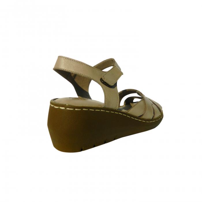Sandale dama din piele naturala, Amza, Gitanos, Bej, 39 EU [1]