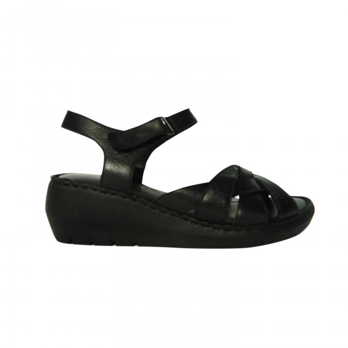 Sandale dama din piele naturala, Amza, Gitanos, Negru, 39 EU 0
