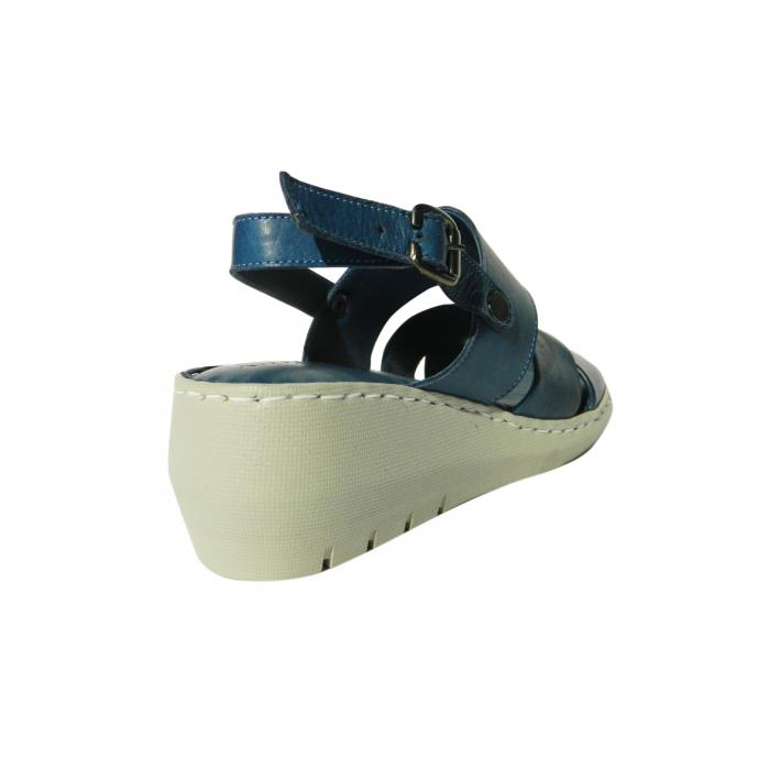 Sandale dama din piele naturala, Cloud, Gitanos, Albastru, 40 EU 1