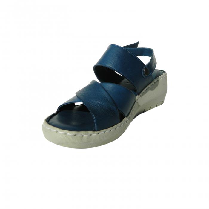 Sandale dama din piele naturala, Cloud, Gitanos, Albastru, 40 EU 2