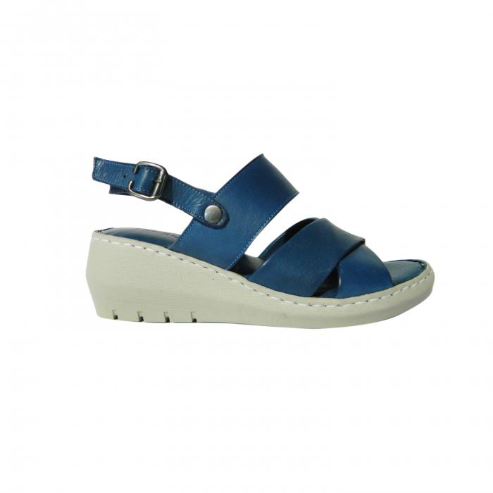 Sandale dama din piele naturala, Cloud, Gitanos, Albastru, 40 EU 0