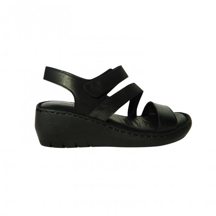 Sandale dama din piele naturala, Dora, Gitanos, Negru, 38 EU 0