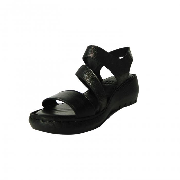 Sandale dama din piele naturala, Dora, Gitanos, Negru, 38 EU 2