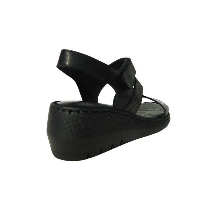 Sandale dama din piele naturala, Dora, Gitanos, Negru, 38 EU 1