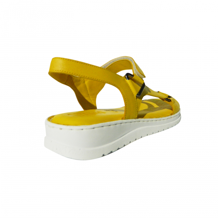 Sandale dama din piele naturala, Lille, Gitanos, Galben, 40 EU [1]