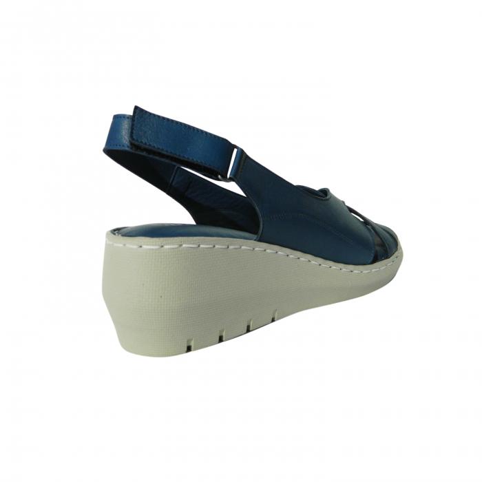 Sandale dama din piele naturala, Mary, Gitanos, Albastru, 36 EU 1