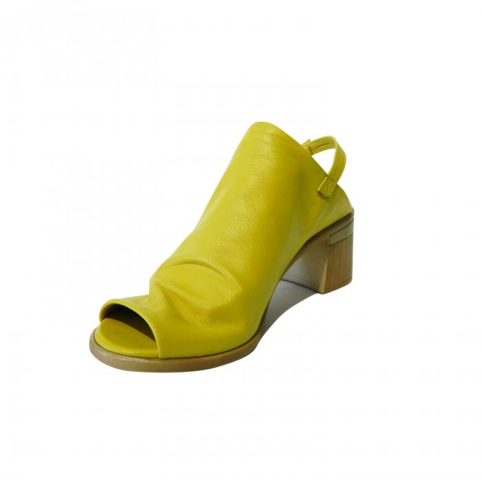 Sandale dama din piele naturala, Patricia, Gitanos, Galben, 39 EU 2